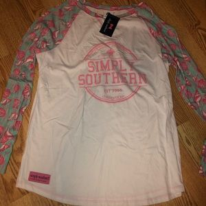 Long sleeved simply southern shirt NWT